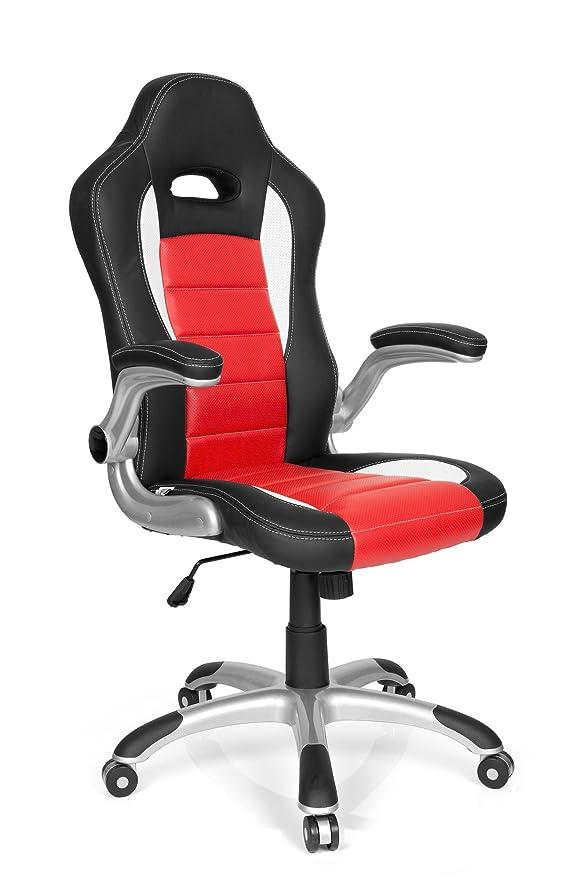 150 opinioni per hjh OFFICE 621889 Sedia da Gaming RACER SPORT Similpelle Nero/Rosso, Schienale