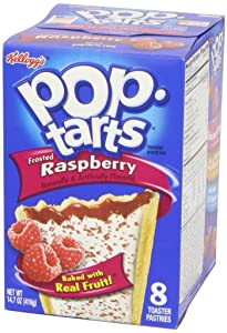 Kellogg's Pop-Tarts Frosted Raspberry Toaster Pastries 8 ct pack of 2 14.7oz