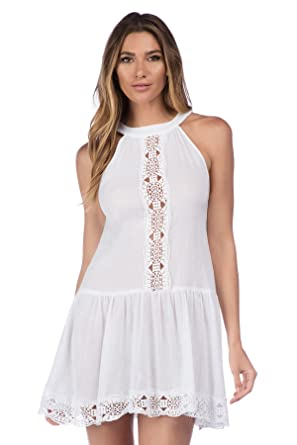 de515af30e Image Unavailable. Image not available for. Color  La Blanca Women s Island  Fare High Neck Short Dress Swim Cover ...