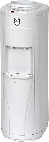 Vitapur Top Load Floor Standing Hot Cold Water Dispenser with Piano Push Buttons 24 7 Heating System, White