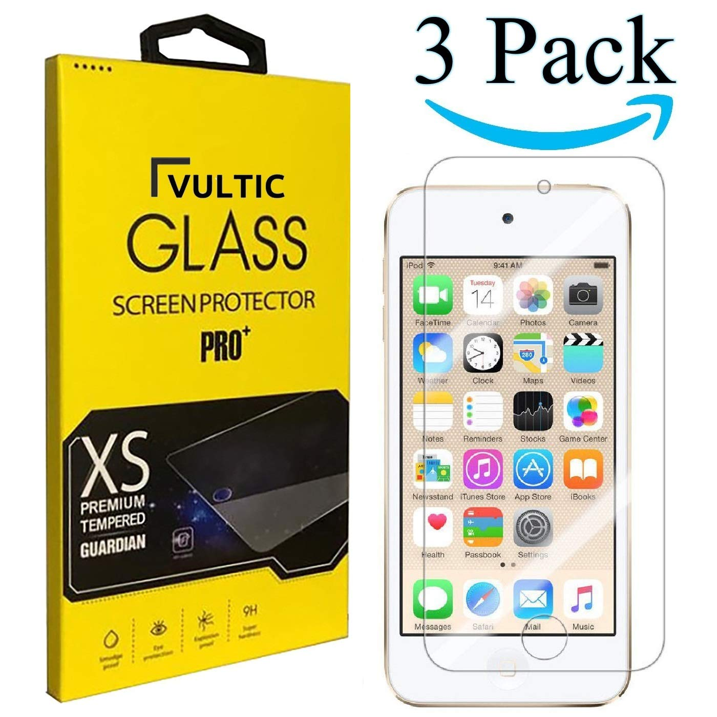 Film Cover for Apple iPod Touch 5 and iPod Touch 6 3 Pack Vultic ...