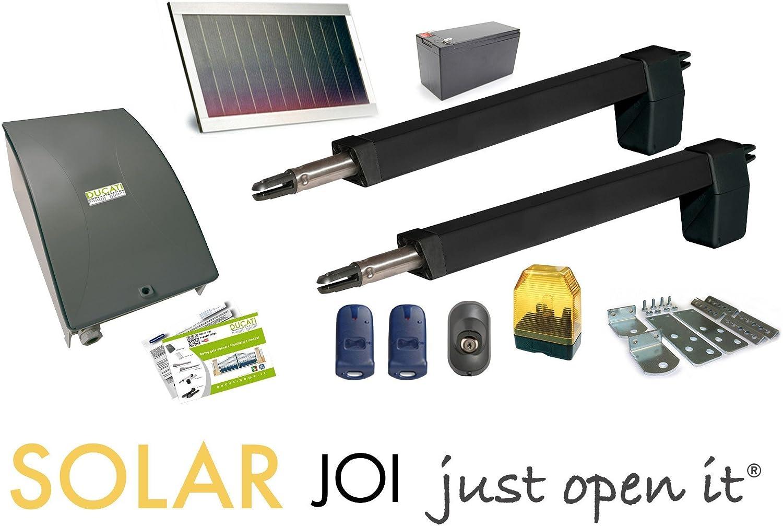 motorización para puerta batiente 2 hoja HC812-300 solar: Amazon.es: Bricolaje y herramientas