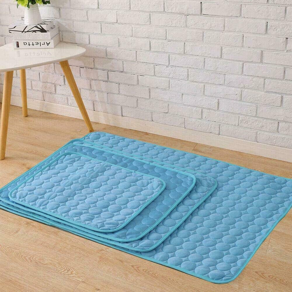 70x55 Greenfields Self-Cooling Pet Mat Pad to Help Your Dog or Cat Stay Cool On Summer Days and Prevent Overheating and Dehydration Variety Of Sizes Perfect for Home and Travel