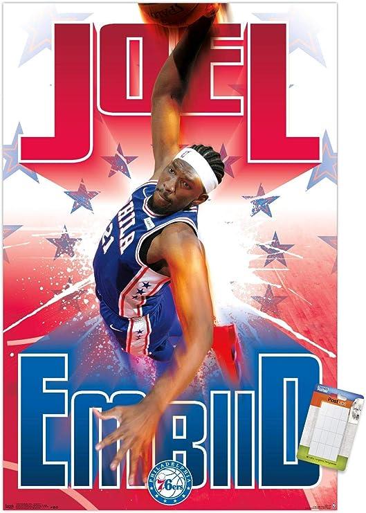 22.375 x 34 Trends International Wall Poster Philadelphia 76ers Logo