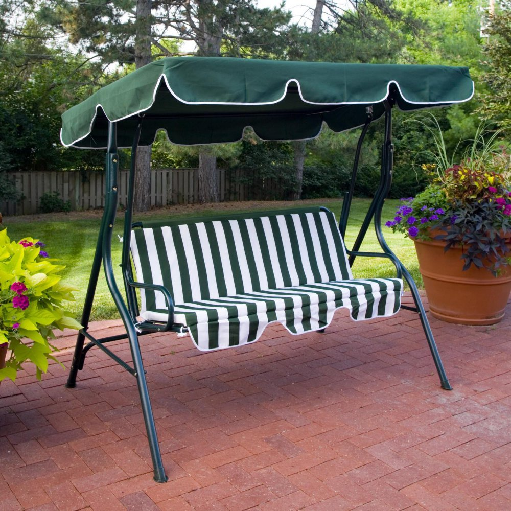 Amazon.com  Coral Coast Tortuga Cay 2 Person Striped Adjustable Tilt Canopy Metal Swing- Dark  Porch Swings  Garden u0026 Outdoor : canopy for swing chair - memphite.com