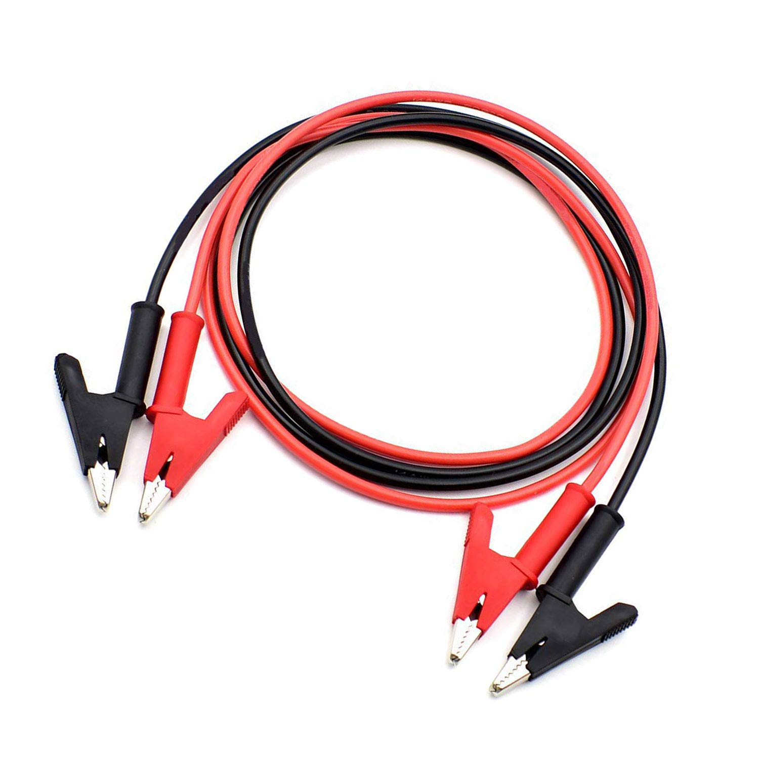 Details about  /6pcs custom made 18awg alligator clips cable jumper wire test leads