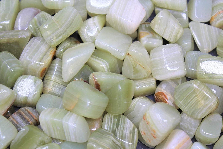 1//4 lb Bulk Large Green Calcite Tumbled Stone 4 oz Crystal Healing Reiki