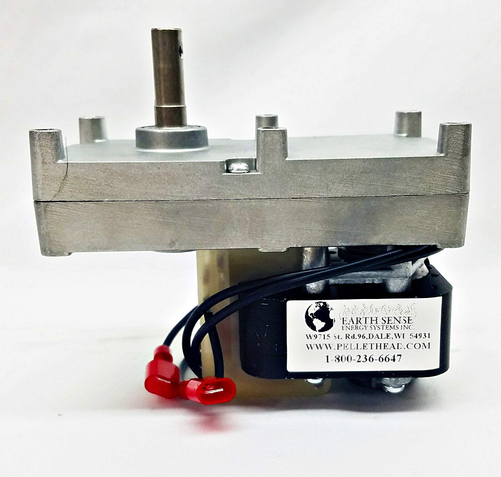 fireplace repl parts (New Part) US Stove 5660 Ashley Bay Auger Motor, 1 RPM CLOCKWISE with Hole 80606 | PH-CW1H / firs for Many Models, Check in Description + (one Free Author's Book) by fireplace repl parts
