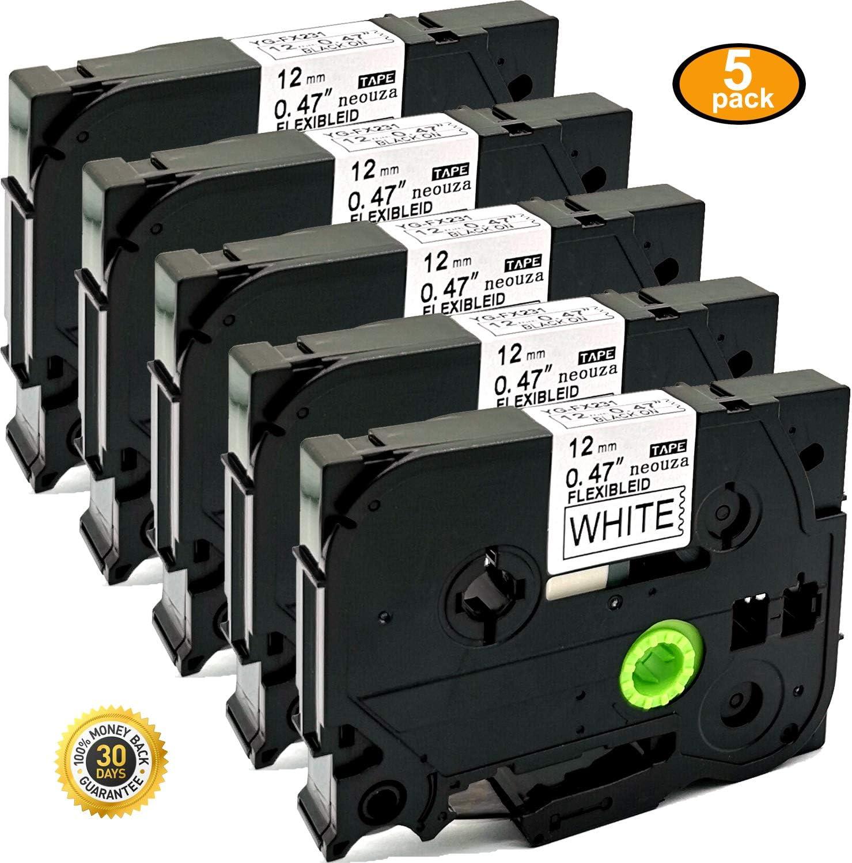 1 PK Black on White Compatible Brother TZeFx231 Tz Tze Fx231 Flexible Label Tape