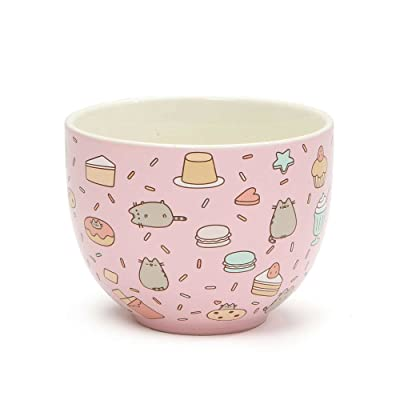 "Pusheen by Our Name is Mud ""Snack Bowl"" Stoneware Bowl: Toys & Games"