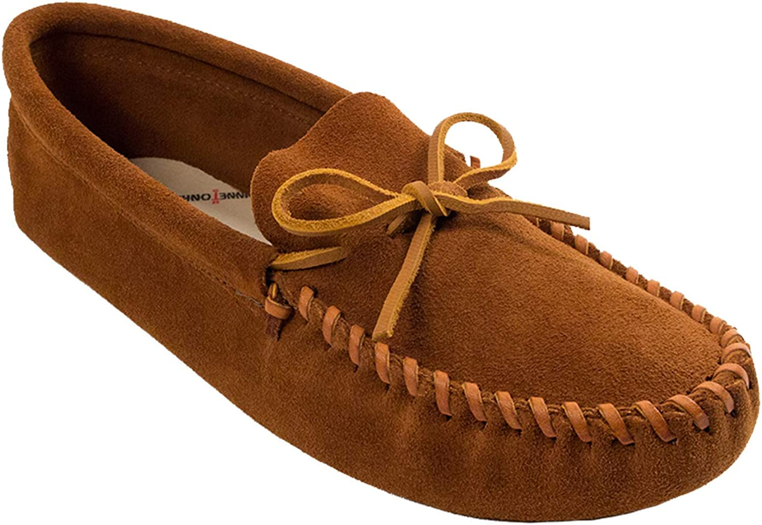 Minnetonka Mens Leather Laced Softsole Moccasin