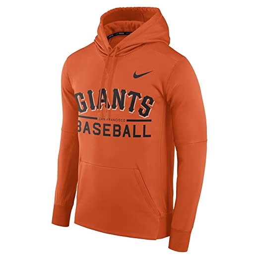 cbadf2247435 Nike Men s San Francisco Giants Therma Pull Over Hoody Orange Size Small