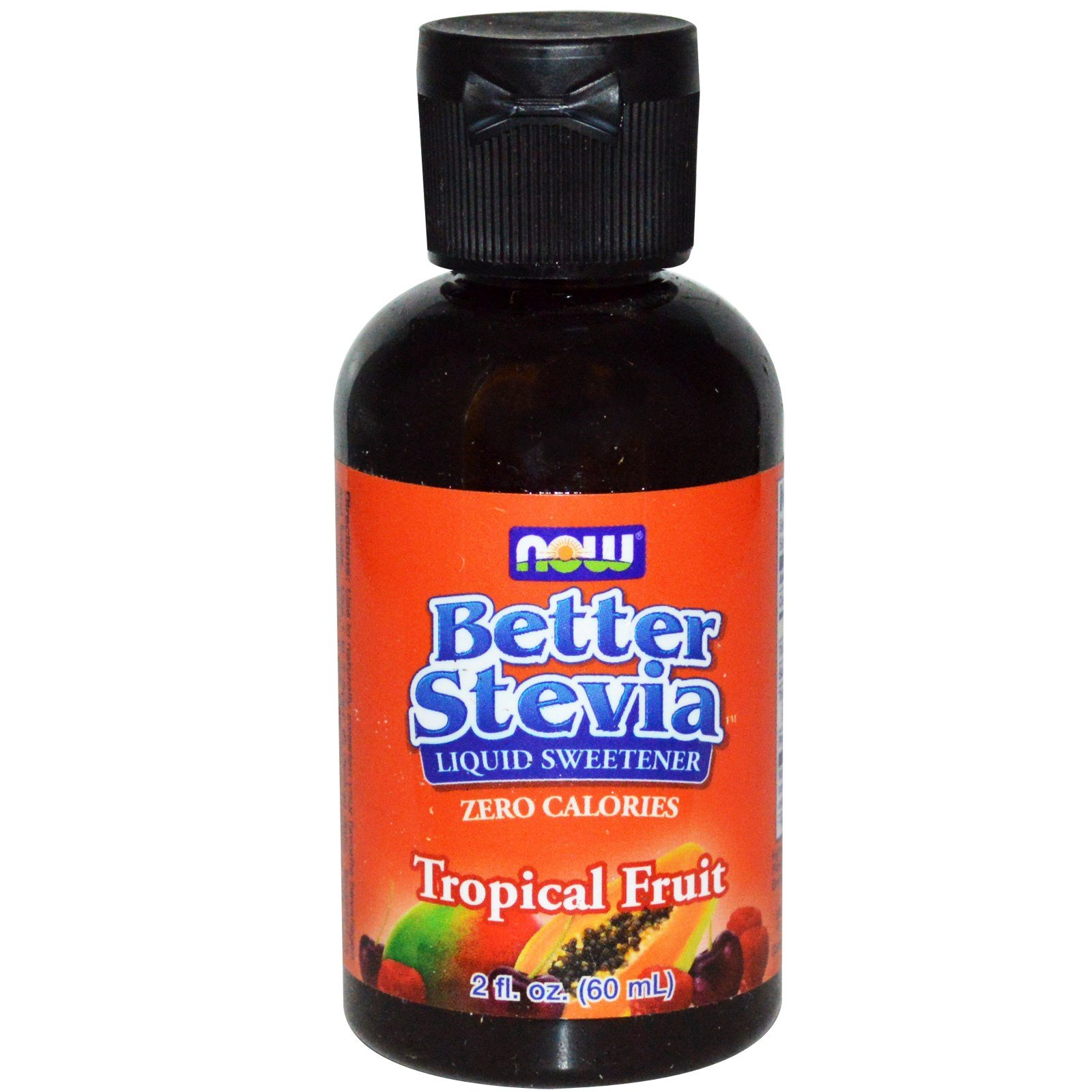 Now Foods, Better Stevia Liquid Sweetener, Tropical Fruit, 2 fl oz (60 ml) - 2PC by NOW Foods (Image #1)