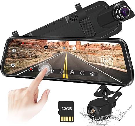 HD 1080P Car DVR Dual Lens Rearview Mirror Video Dash Cam Night Vision 4.3 LOT M