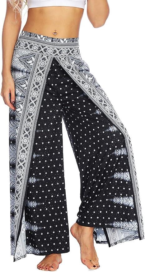 Amazon.com: AMOMA Pantalones de yoga para mujer, con pierna ...