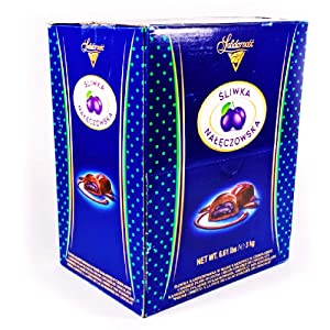 Candied Plums with Cocoa Cream and Chocolate, Polish Prunes, Sliwka Naleczowska Big Candy Box 3 kg | 6.6 lb