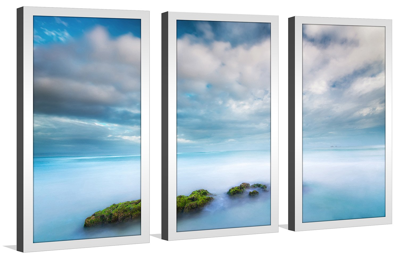 Australia Framed Plexiglass Wall Art Set of 3 Byron Bay Picture Perfect InternationalWategos Beach