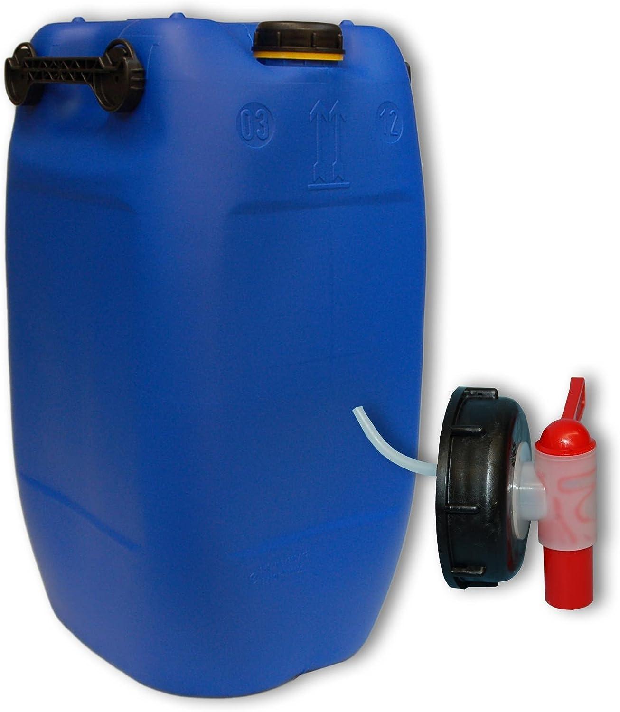 60 L Wasserkanister natur 3 Griffe lebensmittelecht dicht verschließbar Hahn