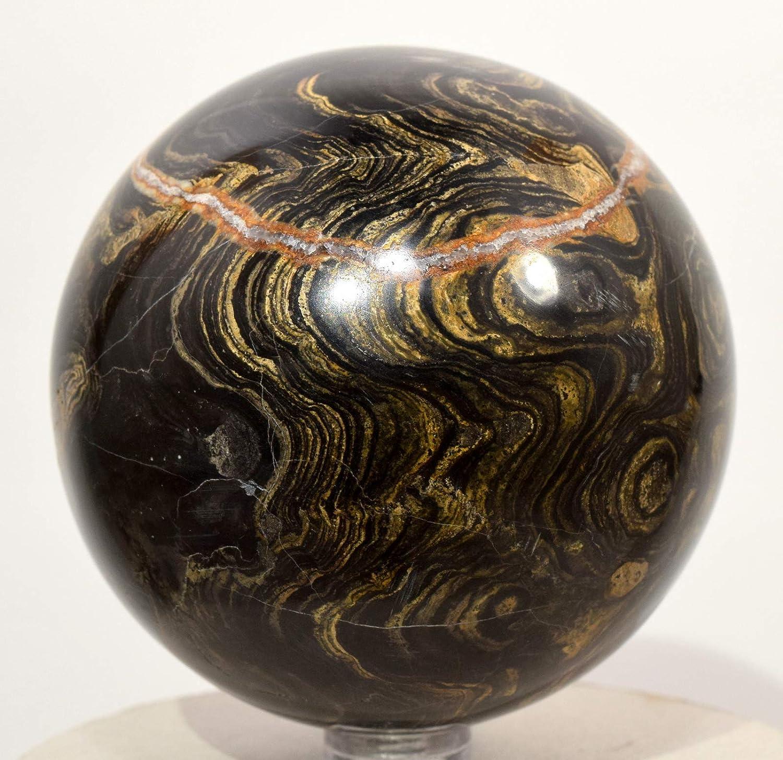 HQRP Esfera de estromatolita Natural de 2.9 Pulgadas, 550 g ...