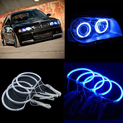 THG LED Angel Eyes halo Rings Kit for BMW E46 3 Series with ...