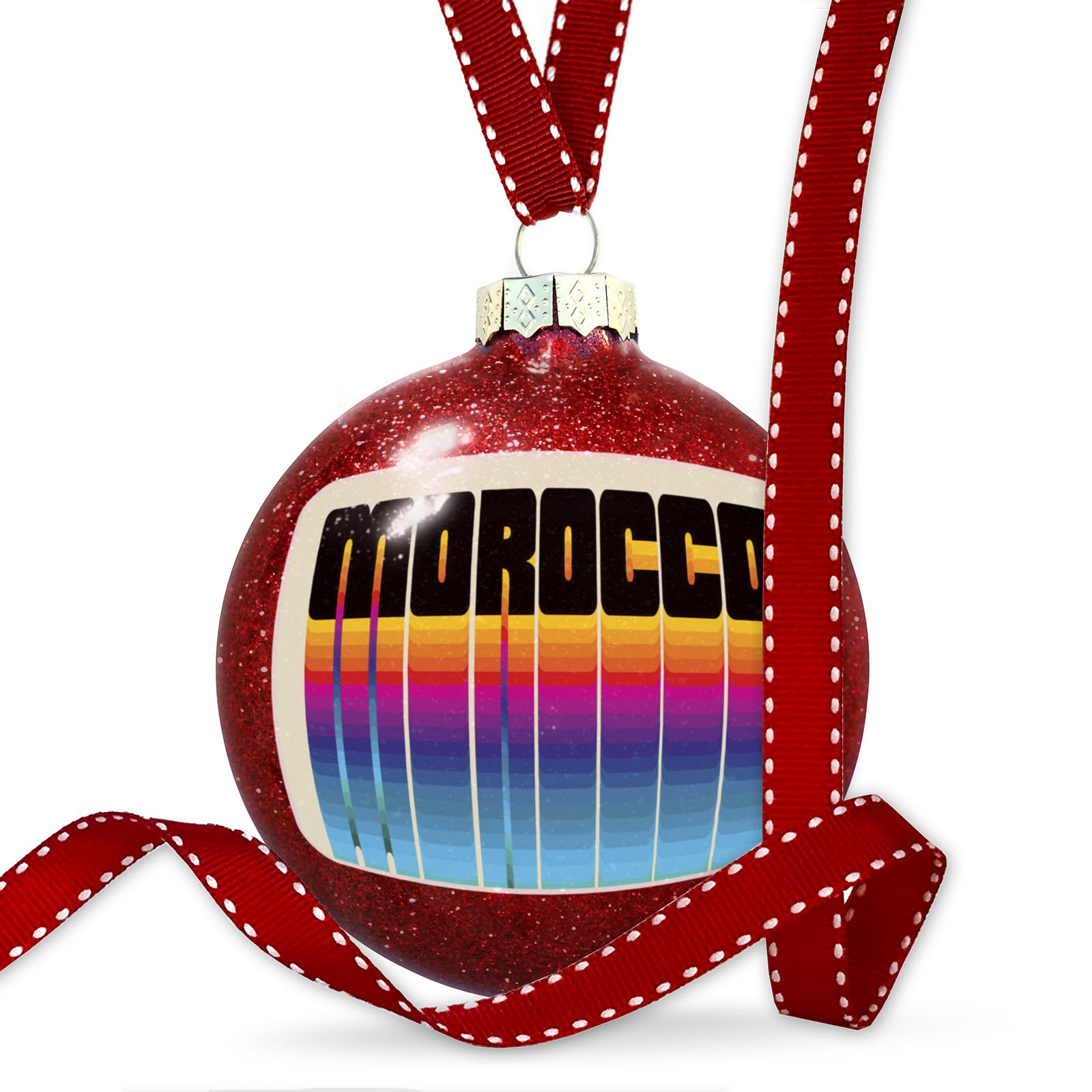 Christmas Decoration Retro Cites States Countries Morocco Ornament