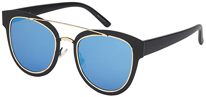 ffe02582507 Edge I-Wear Pantos Style Sunglasses with Flat Color Mirrored Lens  25101-FLREV-
