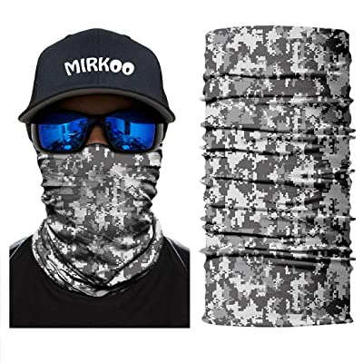 MIRKOO Outdoor Camouflage Face Mask, Breathable Seamless Tube Dust-Proof Windproof UV Protection Motorcycle Bicycle ATV Face Mask for Motorcycling Cycling Hiking Camping Climbing Fishing (OCAMO-344): Clothing