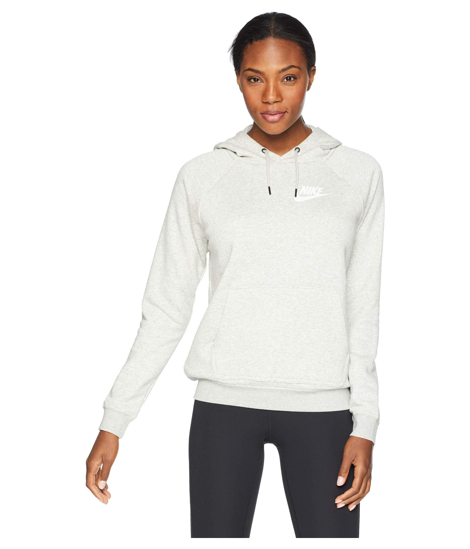 NIKE Sportswear Rally Women's Hoodie Grey Heather/Pale Grey/White aj6315-050 (Size XS)