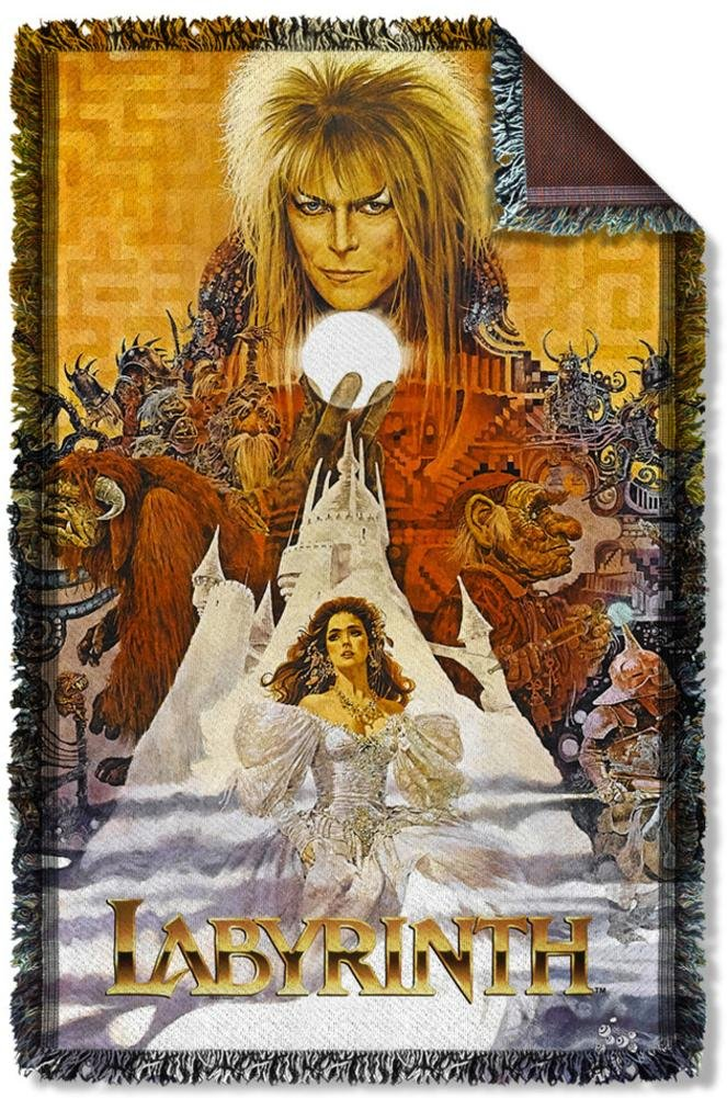 Labyrinth - Crystal Ball Woven Throw Throw Blanket 35 x 57in