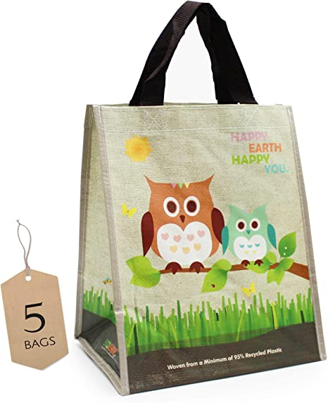 Eco-bags made of 95/% recycled plastic