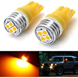 iJDMTOY (2) JDM Amber Yellow 4-SMD High Power LED Side Mirror Replacement Bulbs Compatible With 2007-2014 Toyota FJ…