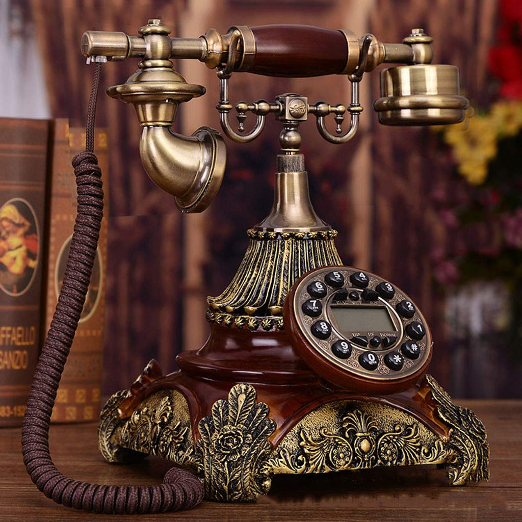 BEIGOO Created United States Retro Turntable Phone Landline European Antique Phone Old-Old Fashioned Antique Card Family Phone-A by BEIGOO