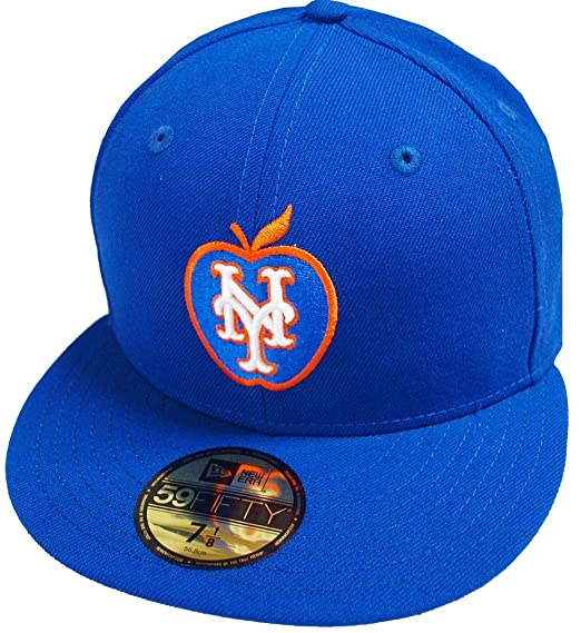 the best attitude 9e1b4 0ee0e hot new era new york mets big apple royal blue mlb cap 59fifty 5950 fitted  basecap