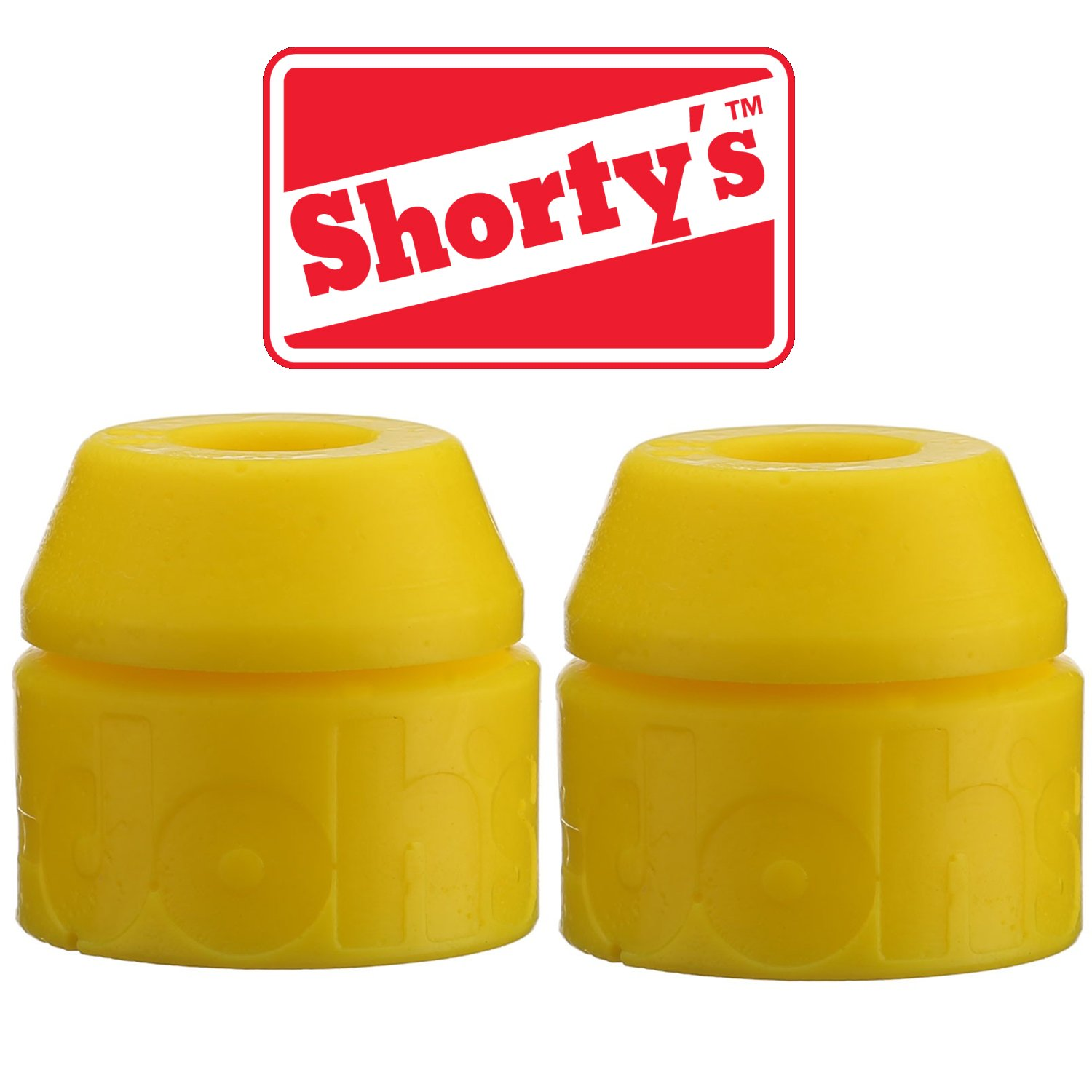 2 sets For Skateboards /& Longboards Shorty/'s Shortys Yellow Doh-Doh Bushings 92a Medium Soft