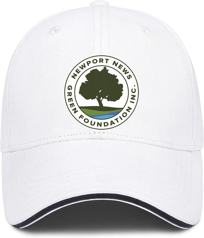 Baseball Cap Virginia Newport News Green Foundation Snapbacks Truker Hats Unisex Adjustable Fashion Cap