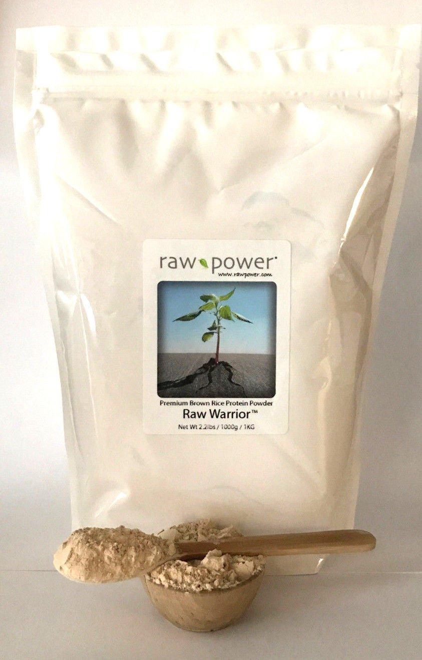 Raw Warrior Brown Rice Protein Powder, Raw Power (one Kilo (35.2oz/1000g), Premium)
