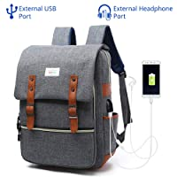 "EUATEO Laptop Backpack Business Laptop, Laptop Travel Bag Ligera y Durable Laptop Backpack Hombres y Mujeres Casual Backpack, Universidad y Niños, Multicolor 15.6""(Gray) (Gray)"