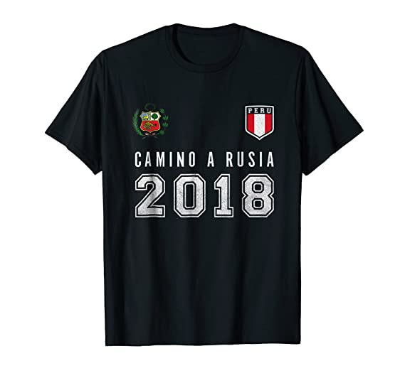 Amazon.com: Peru Football, Soccer, Rusia 2018 tshirt - Camiseta Futbol: Clothing