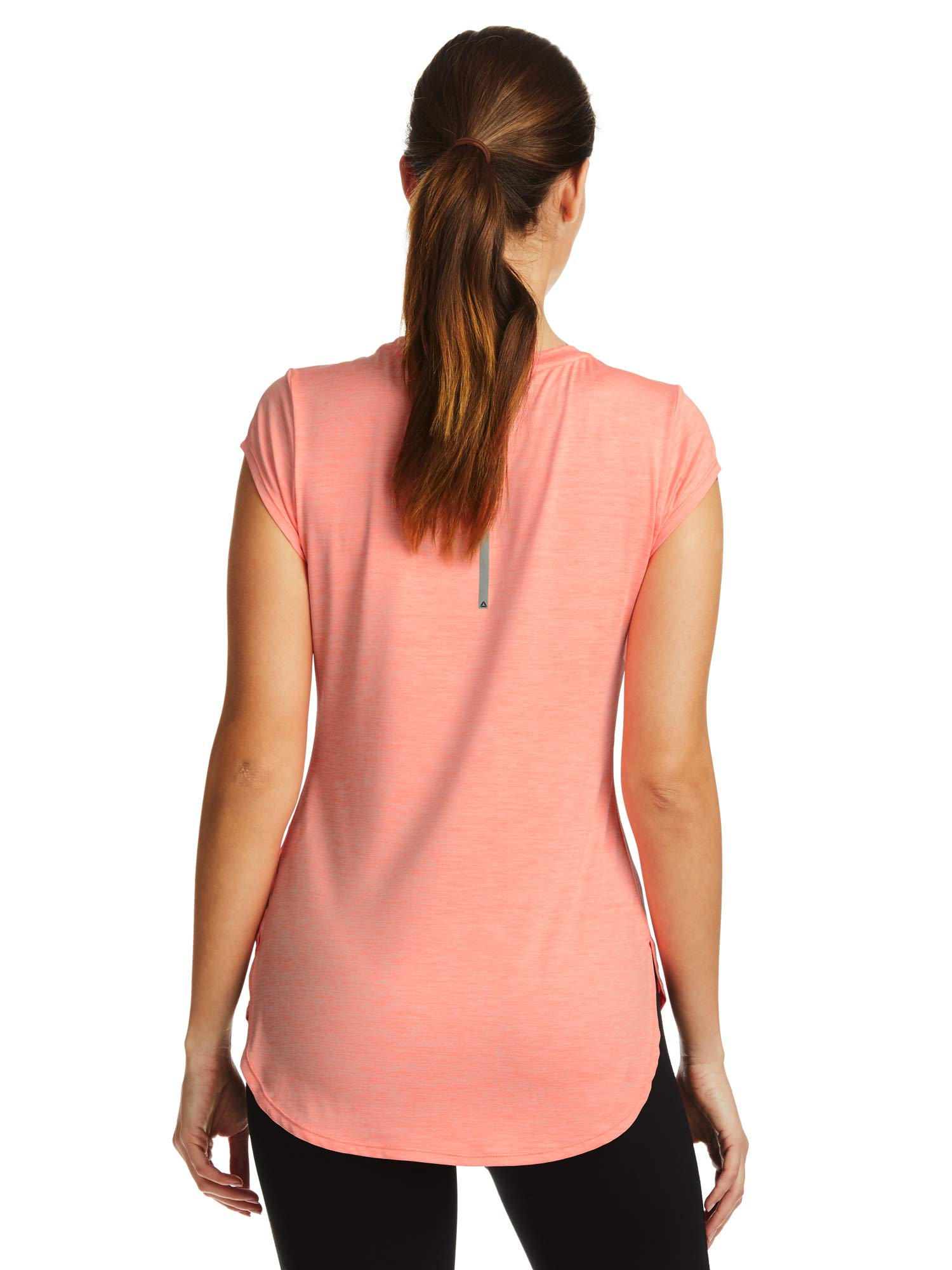 Reebok Women's Legend Performance Top Short Sleeve T-Shirt - Coral Flare Heather, X-Small by Reebok (Image #3)