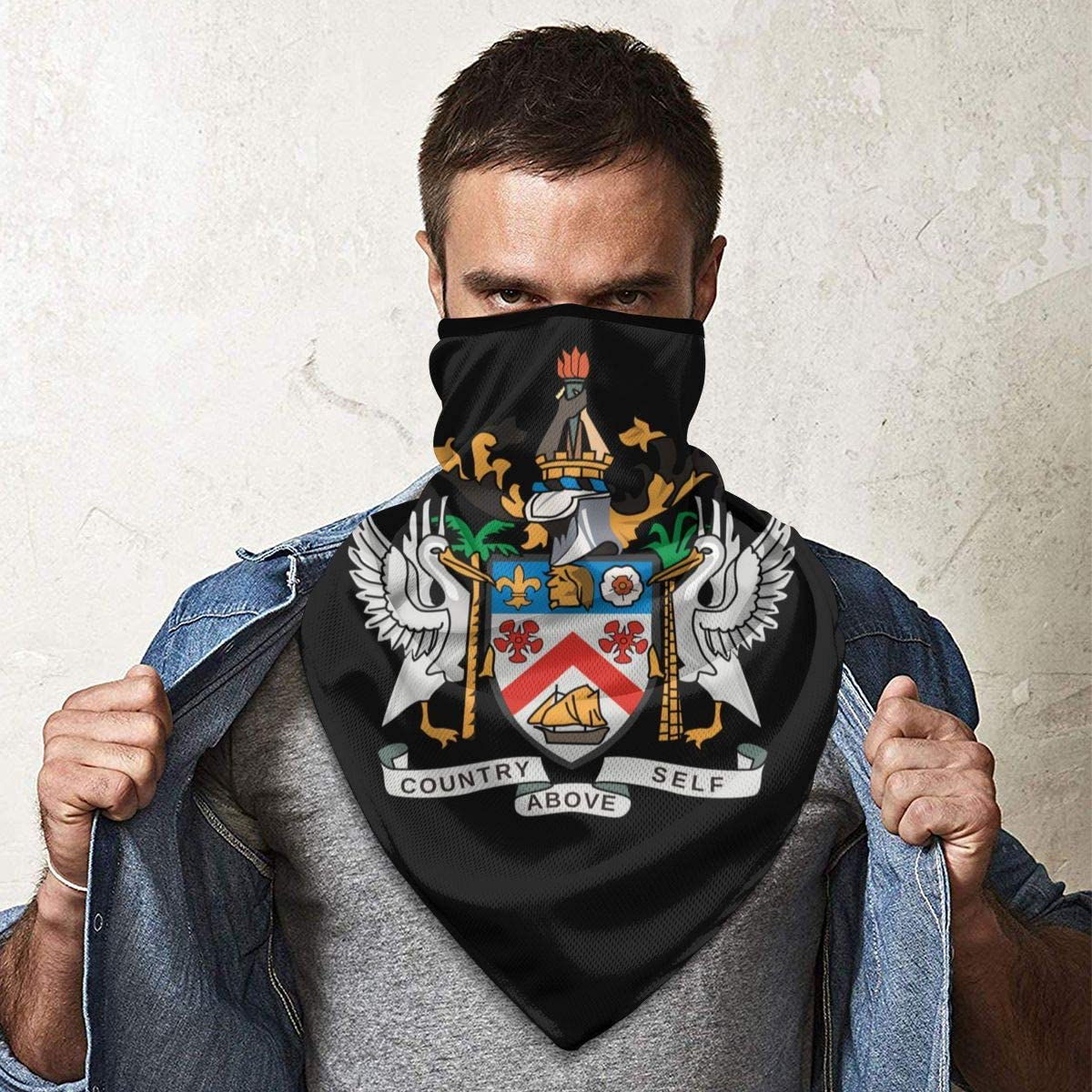 National Emblem of Saint Kitts and Nevis Neck Gaiter Warmer Windproof Face Mask Scarf Outdoor Sports Mask