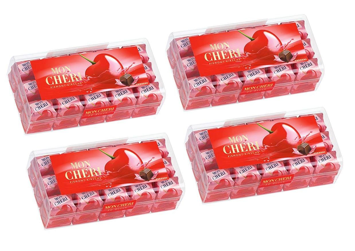Mon Cheri from Ferrero 4 x 315g (4 packages with each 30 pieces ...