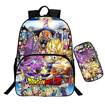 BDMF 3D Esfera del dragón Super Anime 2PCS / Sets de Mochila ...