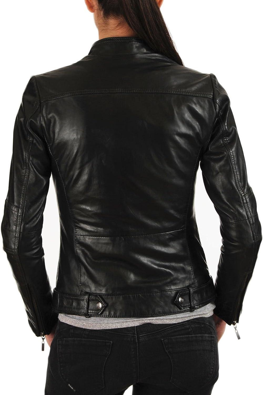 100/% New Genuine Leather Lambskin Women Biker Motorcycle Jacket Ladies LFWN261