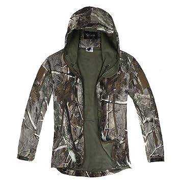 Zicac para hombre al aire libre táctico camuflaje con hojas ropa ...