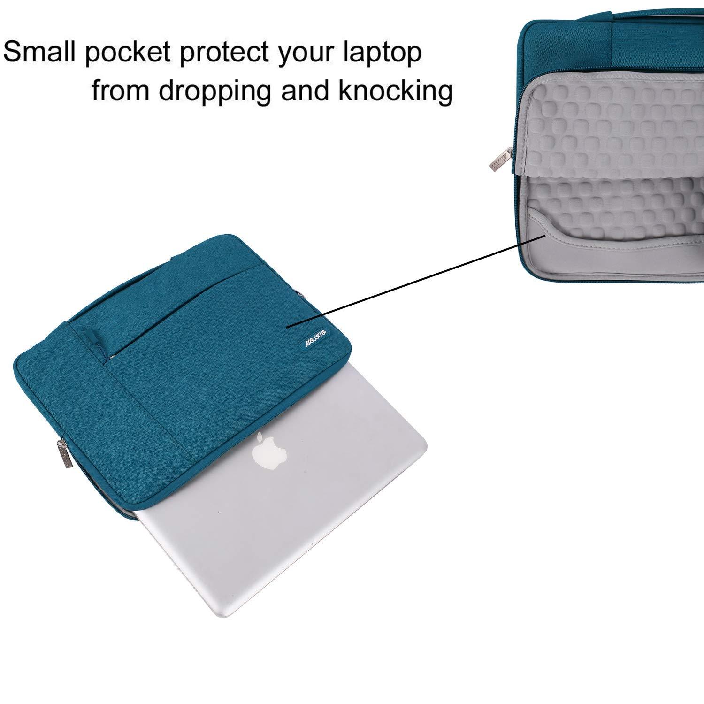 MOSISO Laptop Custodia Borsa Compatibile MacBook PRO 15 Pollici A1990//A1707,14 Pollici Ultrabook,Tessuto in Poliestere Multifunzionale Valigetta Protettiva Sacchetto della Manica,Nero