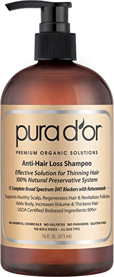PURA D'OR Anti-Hair Loss Organic Argan Oil Shampoo