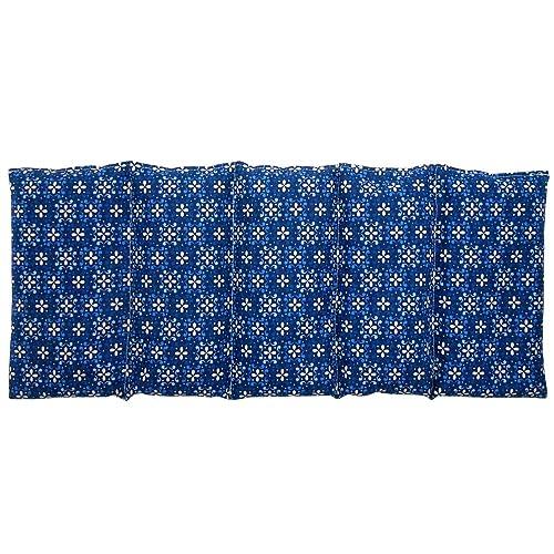 """Saco térmico """"FLORES - AZUL"""" – 50 X 20 cm (XL) – relleno con 800gr de huesos de cereza - para microondas y congelador"""