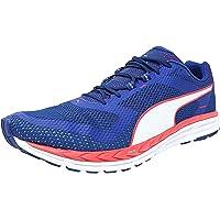 Puma Men's Speed 500 Ignite Blue/Bright Plasma White Ankle-High Fabric Running Shoe - 14M