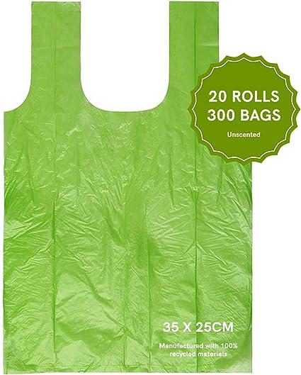 Wave Biodegradables Bolsas de Recambio para Caca de Caca, 300 ...