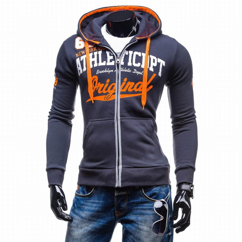 Amazon.com: 2018 Hoodies Men Sudaderas Hombre Hip Hop Mens Letter Hooded Zipper,Navy,M,Russian Federation: Clothing
